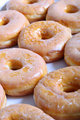 Glazed doughnuts vertical