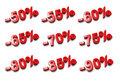 3D percent numbers - %