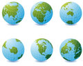 Earth globe icons