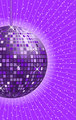 Disco ball purple