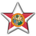 Florida (USA State) button flag star shape
