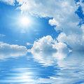 Sun on blue sky.