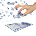 Puzzle of the euro banknotes
