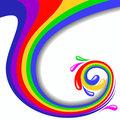 Colorful swirl vector illustration
