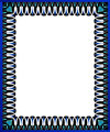 Blue swirl border