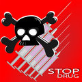 The poster against drugs