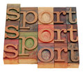 Sport word abstract