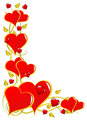 A red Valentines hearts vector background