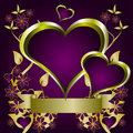 Purple Hearts Valentines Background