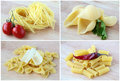 Different varieties of Italian pasta