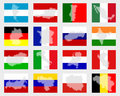 Set of flags with maps