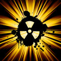 Grunge nuke sign