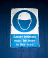 Safety Helmet Warning Sign