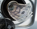 Money in gas tank