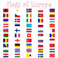 Flags of europe against white