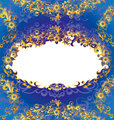 Decorative Blue Floral Frame