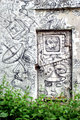 Graffiti on doors and wall