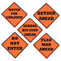 Caution sign collection