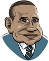 Cartoon Obama