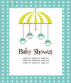 Baby shower card for boys
