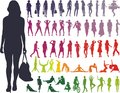 Silhouettes Women - Vector