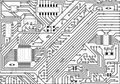 Hi-tech industrial electronic black - white background