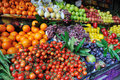 Fresh fruits and vegetables at market