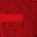 Industrial electronic red background
