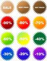 Vector sale stickers