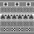 Set of vector greek ornaments