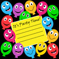 Balloons party invitation