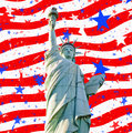 Statue liberty stars stripes for 4th july