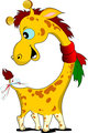 Little funny giraffe. Vector illustration africa, animal, baby,