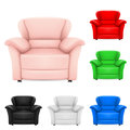 Colored set of stylish chairs