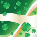 Irish Flag & Clover