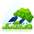 Ð¡ountry house in grass