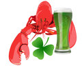 Lobster with green beer