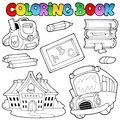 Coloring book school collection 1