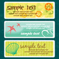 Summer tags with place for your text