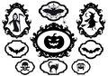 halloween frames, vector