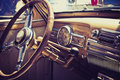 Inside in a old car