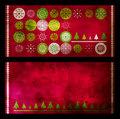 Christmas grunge cards