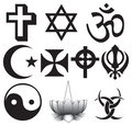 Different religions symbols
