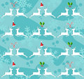 Christmas reindeer seamless pattern background