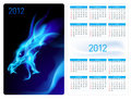Calendar twenty twelve. Blue Dragon.