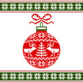 Christmas ball with nordic motif