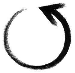round arrow sketch stock photo