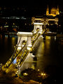 Szchenyi Chain Bridge in Budapest by night