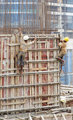 Mumbai India contruction site workers disregard persona