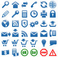Icons for the web site Internet.